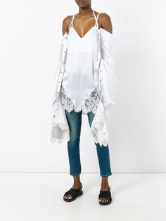Y / Project removable elongated sleeves blouse
