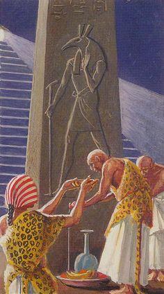 XV - Le diable - Ramsès : Tarot de l'éternité par Severino Baraldi