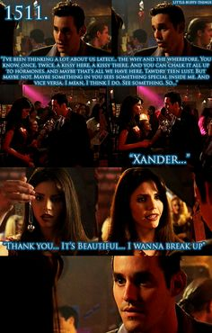 Cordelia and Xander from Buffy the Vampire Slayer.
