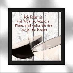 artissimo, gerahmtes Glasbild, 47x47cm, Steelikone, AG3238, Wein II, Bild, Wandbild, Wanddeko, Wanddekoration: Amazon.de: Küche & Haushalt