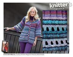 Cornelia Tuttle Hamilton's Artist Smock in Poems Silk.  Knitter's Magazine issue K116.