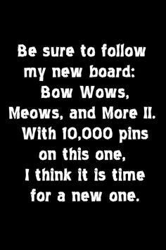 Follow my new board