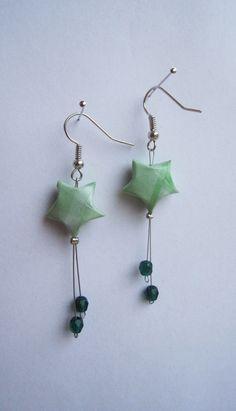 Boucles d'oreille origami, étoile en papier. : Boucles d'oreille par…
