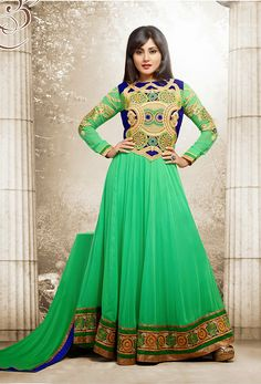 To meet the diverse requirements of the customers, we are offering a wide assortment Designer Long Salwar Suit. We have manufactured the offered array of suits in sync with the latest fashion trends & styles. Furthermore, offered range of suits is available with us in various designs, patterns, color schemes and other specifications. Our suits can be availed at competitive market rates by all our esteemed clients.