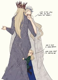 The Royal Mirkwood family dancing together