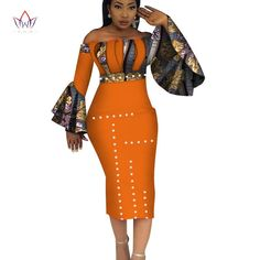Image of 2018 Summer Dashiki Party Hot Vestidos for Women Cotton Print Traditional African Clothing nature dress Mid-Calf African Fashion Designers, African Print Fashion, Africa Fashion, African Fashion Dresses, African Prints, African Attire, African Wear, African Dress, African Clothes