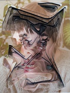 Lucas Simões is an mixed media artist from São Paulo that creates hand cut geometrical portraits through ten layers of photographs #collage #layering #brazilian