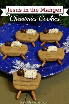 Easy to make Jesus in the Manger Christmas cookies are sure to become a new family tradition!
