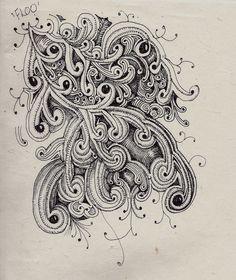 Life Imitates Doodles: Spotlight on the tangle 'Floo'