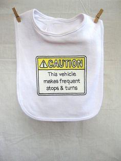 Baby Bib Funny Infant Bib Baby Shower Gifts Trendy by HazardBaby