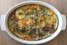 If you want a beautiful side dish to set on the table, this tomato and eggplant gratin is it. Especially when made with colorful heirloom tomatoes. It tastes rich and decadent but is actually quite healthy when you take into account the antioxidants from the tomatoes and eggplant, potential health benefits of full fat dairy and protein from eggs. Did you know that eggplant has high levels potent antioxidants? And as most people know, so do tomatoes. Healthwise and flavorwise they make a good ...