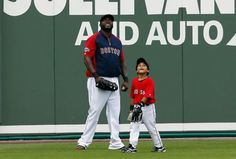 "David Ortiz.  Happy guy and always great with the kids.  Fenway is his ""house"""