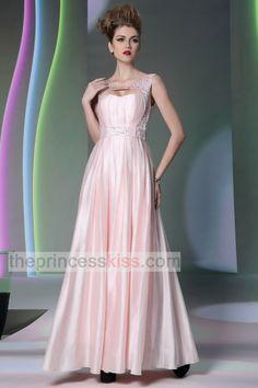 Fashion Prom Dresses, Long Bridesmaid Dresses-Sweetheart+Jewel pearl pink floor length dresses PK30922 - Occasions
