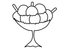 Large Size Ice Cream For Three Coloring Pages : Bulk Color Ice Cream Coloring Pages, Coloring Pages For Kids, Online Coloring, Have Some Fun, Ice Cream Scoop, Cute Pictures, Ice Age, Lamps, Sky