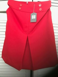 Bnwt Red Oasis Girls / Women's Red short Skirt Size 8 #Oasis #Straight
