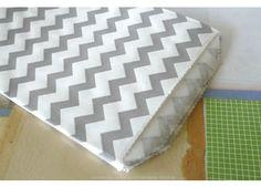 Medium THIN Chevron GREY Stripe Paper Bags - 5 x 7.5 - Set of 20 - Envelopes+Bags+Cards
