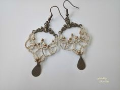 tatted earings - tatted jewellery from Frivolitky KarOlin, handmade jewellery