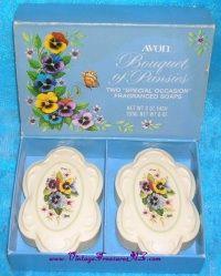 Avon Bouquet of Pansies Vintage 1976 Fragranced Soaps