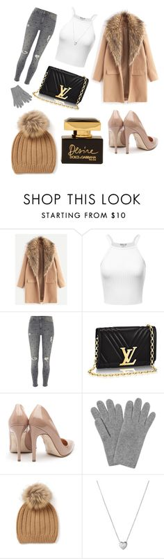 """""""WINTER"""" by libil ❤ liked on Polyvore featuring River Island, Rupert Sanderson, L.K.Bennett, Links of London and Dolce&Gabbana"""
