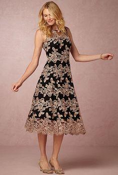 """Brides.com: . """"Tonya"""" lace tea-length dress, $260, BHLDN"""