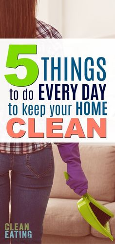 Easy Cleaning Challenge: Do these 5 things every day to keep your house clean and clutter free. Cleaning Recipes, Cleaning Hacks, Cleaning Solutions, Cleaning Schedules, Storage Solutions, Cleaning Challenge, Cheap Clean Eating, Clean Clean, Declutter Your Home