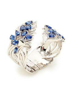 Hair & Head Jewelry Erica Hope Hair Barrette Silver Metal Sapphire Rhinestones Heart Accessorie Skillful Manufacture Jewelry & Watches