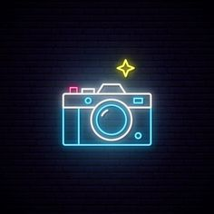 Neon sign of photo camera sign. Premium Vector Neon sign of photo camera sign. Neon Light Wallpaper, Wallpaper Iphone Neon, Neon Wallpaper, Aesthetic Iphone Wallpaper, Camera Wallpaper, Phone Wallpapers, Neon Light Art, Neon Light Signs, Led Neon Signs