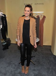 Style 101: A Retrospective Study of Lauren Conrads Chicest Looks: Lauren looked sweet and business casual at a Lucky event in 2009. Lesson from Lauren: a crisp blazer will refine any look.: Lauren married camel and black in a crisp blazer, leather pants, and perforated booties in 2011. Lesson from Lauren: camel and black make a powerful pair.