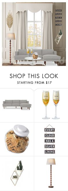 """""""Untitled #1049"""" by alma06 ❤ liked on Polyvore featuring interior, interiors, interior design, home, home decor, interior decorating, Joybird, OXO, Silver Lining and Umbra"""