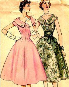 Vintage 1950s Sewing Pattern Simplicity 1617 by PrettyPatternShop, $11.95