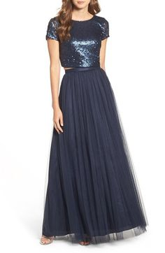Adrianna Papell Embellished Two Piece Gown available at #Nordstrom