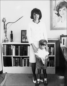 Jackie Kennedy with John Jr., 1964, in the New York office authorized for her to handle the incredible volume of mail generated by JFK's assassination.