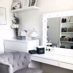 We're loving @anna_louisa_at_home before and after photos! 😍Oh what a difference our Audrey Hollywood Mirror makes! 🤩 | Makeup Mirror with Lights | Dressing Table Mirror with Lights | Vanity Mirror with Lights | Illuminated Makeup Mirror | Light Up Makeup Mirror | Hollywood Mirrors #hollywood #hollywoodmirror #hollywoodmirrors #dressingtable #dressingroom #vanitygoals #vanitymirror #mua #makeup #makeuptips #makeupartist #makeupmirror #beauty #beautytip #beautyblogger #mirror