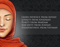 So much to learn from these amazing women! #islamicquotes
