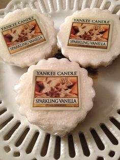 YANKEE CANDLE  SPARKLING VANILLA Wax Tarts Set of 3 NEW #YankeeCandle