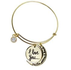 2015 New Fashion Alex and ani Letter i love you to the moon and back Bracelets #New #KoreanStyle
