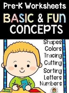 Jun 17, 2020 - No Prep Math and Literacy Worksheets for preschoolers. 25 unique pages that provide lots of opportunities for differentiation. Topics included: Bigger and smaller, shapes, counting, numbers, tracing shapes, tracing lines, cutting along lines, color by number, sorting by shape, ABC's, complete the pi... Science Resources, Reading Resources, Teacher Resources, School Resources, Tracing Lines, Tracing Shapes, Pre K Worksheets, Literacy Worksheets, Decoding Strategies