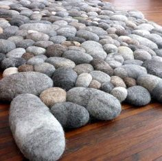 felt carpet supersoft pebbles - felt stone carpet, wool from sheep & lama Big Design, Cafe Design, Korean Cafe, Stone Rug, Diy Carpet, Carpet Ideas, Hall Carpet, White Pen, Brown Carpet
