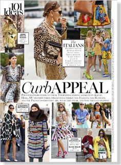 Curb Appeal: The Italians. Clipped from Marie Claire using Netpage. Street style