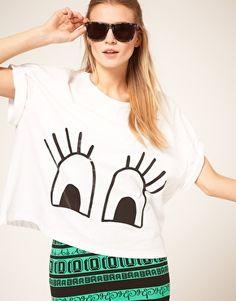ASOS T-Shirt With Flutter Plastisol Eyes