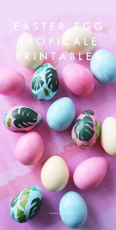 Poppytalk: DIY | Easter Eggs Tropicale + Free Printables