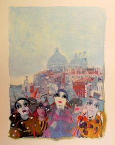 Elio Lazzari – Vintage Art Print – Art & Vintage Store Ltd Wall Art Decor, Wall Art Prints, Framed Prints, Vintage Art Prints, Vintage Posters, Thomas Mcknight, Carnival Signs, Yellow Umbrella, Original Vintage