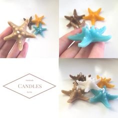 Cute starfishes floating candles by @kitadesigns.