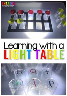 Learning with a Light Table: Multi-Sensory Educational Activities for Math and Reading Using a Light Table in Preschool and Kindergarten #stem #multisensoryactivities