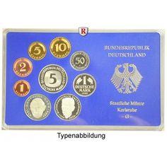 Bundesrepublik Deutschland, Kursmünzensatz 1989, Einzelsatz, PP: Kursmünzensatz 1989 Einzelsatz. Polierte Platte 16,50€ #coins