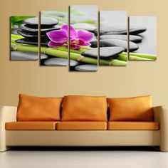 Meditation Therapy and Spa Modern Art Canvas Painting Home Decor
