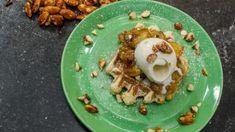 Goed weekend met Roel Vanderstukken: zachte wafels met vanilleroomijs en gezouten, gekarameliseerde amandelen