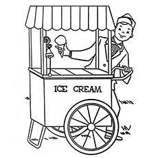 Transportation Coloring Page: Ice Cream Truck need to