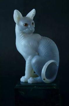 кошка из камня статуэтка животные из камня