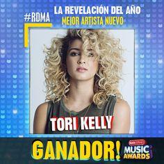 """¡Felicidades a Tori Kelly por """"Mejor Artista Nuevo"""" este año en los #RDMA 2016!"""